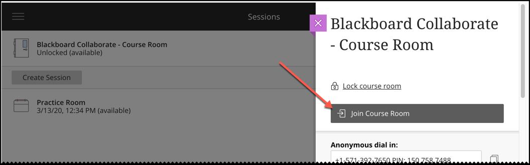 Blackboard Collaborate - Course Room