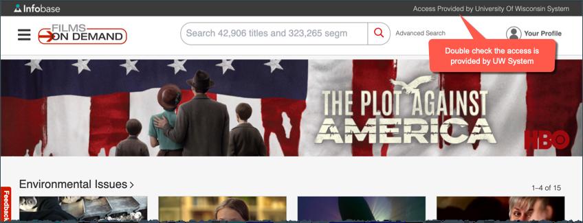 Films On Demand website