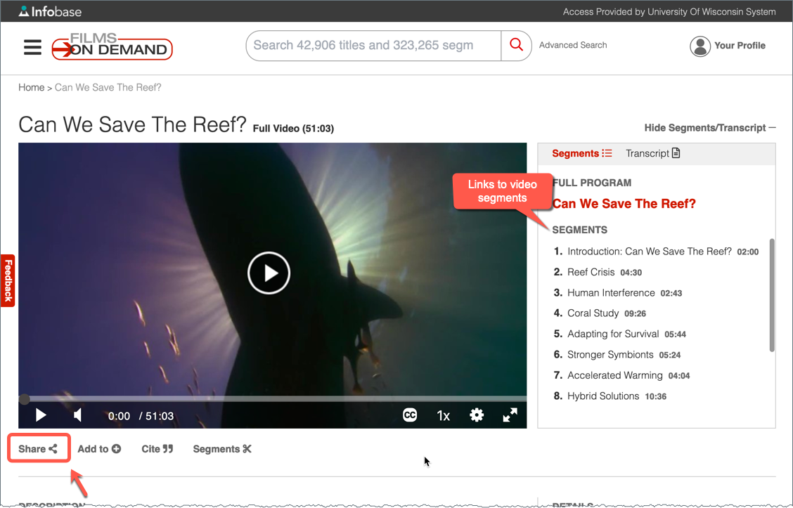 Films On Demand Video Page
