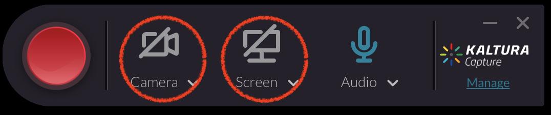Kaltura Capture Webcam and Screen Disabled