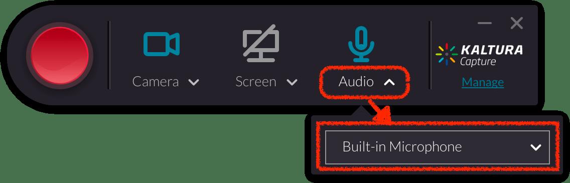 Kaltura Capture Audio Preview