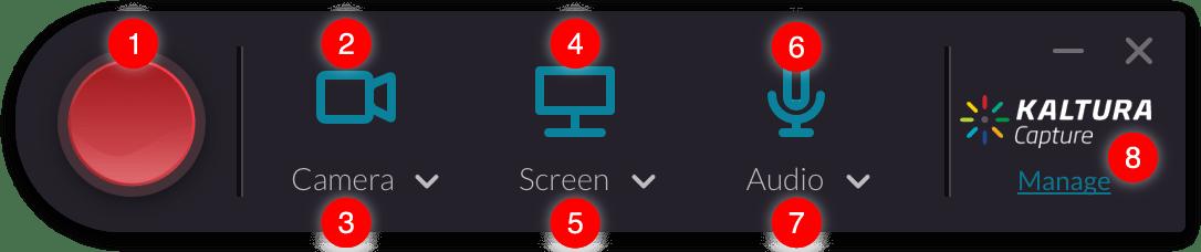 Kaltura Capture Main User Interface