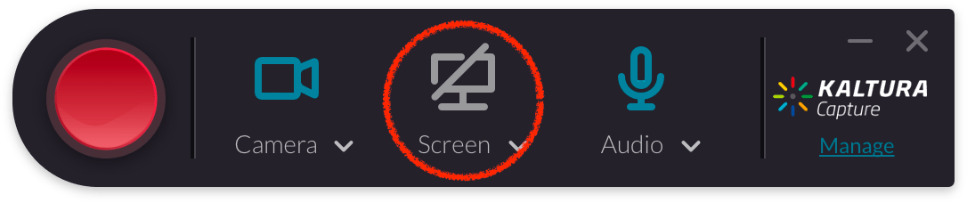 Kaltura Capture Screen Disabled