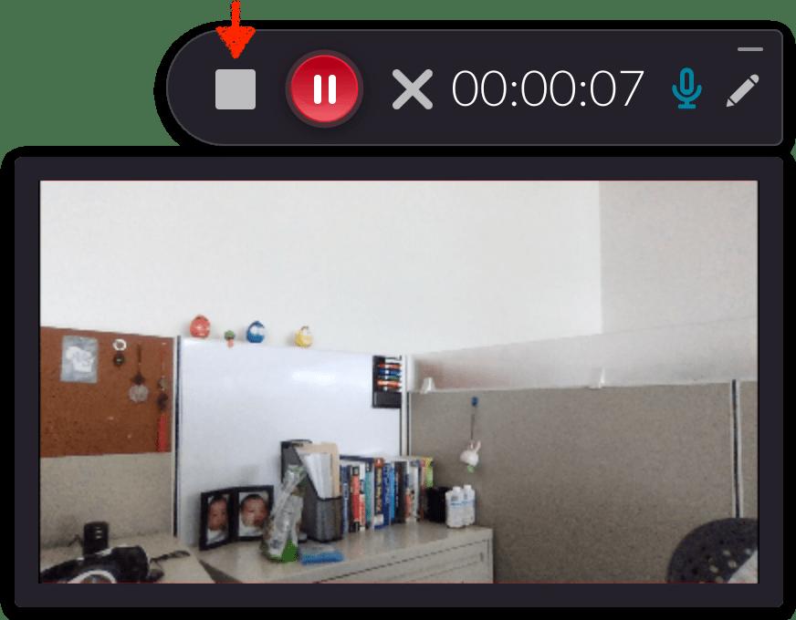 Webcam recording in progress